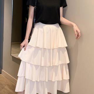 Plain Layered Skirt