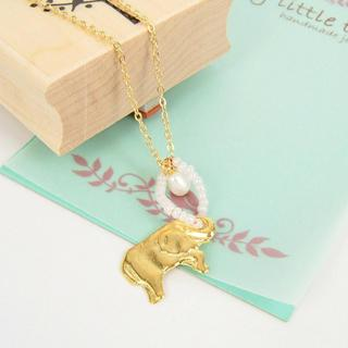 Golden Thai Elephant Necklace
