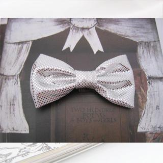 Sparkle Bow Hair Pin -silver One Size