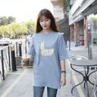 Duck Print Long T-shirt