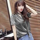 Metallic Short Sleeve T-shirt