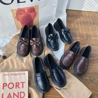 Plain Loafers / Ribbon Loafers