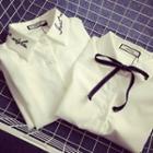 Embroidered Shirt / Tie-neck Shirt