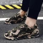 Camouflage Lace-up Sneakers