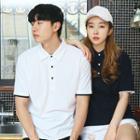 Couple Short-sleeve Polo Shirt