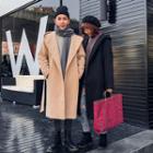Couple Matching Hooded Long Coat