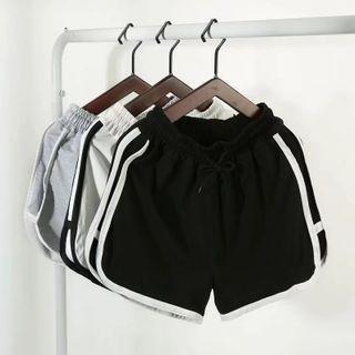 Contrast Stripe Drawstring Shorts