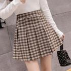 Mini Plaid Pleated Skirt