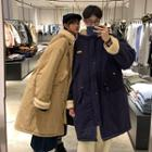 Couple Matching Padded Long Zip Jacket
