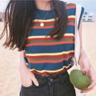 Striped Tank Top As Shown In Figure - One Size