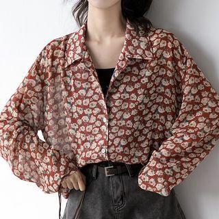 Printed Long-sleeve Shirt As Shown In Figure - M