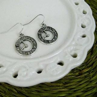 Silver Times Earrings Silver - One Size