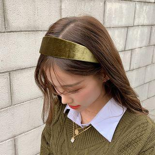 Velvet Hair Band Khaki - One Size