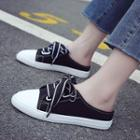 Canvas Lace-up Slippers