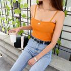 Colored Ribbed Camisole Top