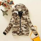 Camouflage Hooded Padded Jacket