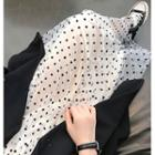 Dotted Midi A-line Mesh Skirt