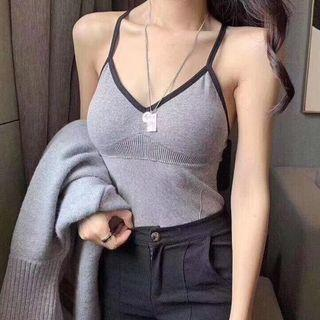 Contrast Trim Padded Camisole Top