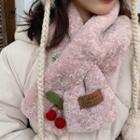 Cherry Fleece Scarf