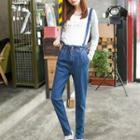 Straight-cut Suspender Jeans