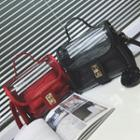 Buckled Transparent Shoulder Bag