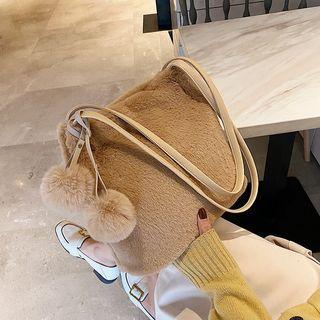 Furry Drawstring Hand Bag