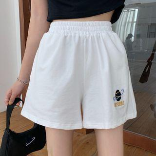 Planet Printed Loose Fit Shorts