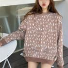 Leopard Printed Knit Top