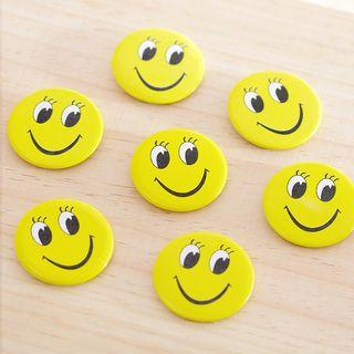 Smiley Face Print Brooch