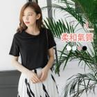 Twisted Neck Short-sleeve Top