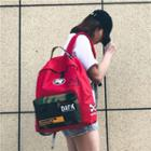 Canvas Printed Panel Backpack