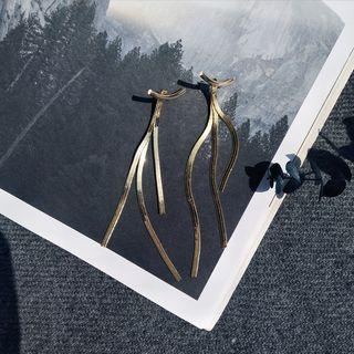 Alloy Fringed Earring Gold - One Size