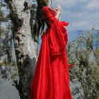 Ruffled-sleeve Maxi Dress