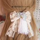 Bow Applique Lace Hair Tie