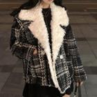 Double Breasted Coat Black - One Size