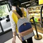 Striped Panel Backpack