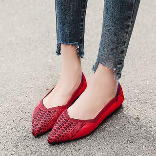 Pattern Pointy Toe Flats