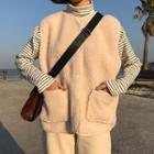 Fleece Buttoned Vest