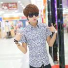 Floral Print Short-sleeve Shirt