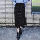 Dotted Midi Chiffon Skirt