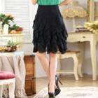 Ruffle Chiffon Skirt