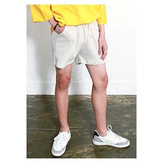 Pocket-front Colored Sweat Shorts