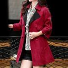 Zipped-sleeve Double-breasted Coat