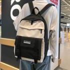 Two-tone Buckled Nylon Backpack