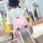 Bunny Print Canvas Backpack