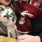 Deer Printed Knit Scarf