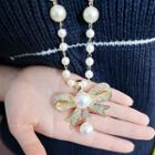 Bow Beaded Necklace