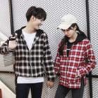 Couple Matching Plaid Zip Jacket