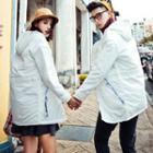 Couple Matching Hooded Long Jacket