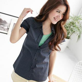Short-sleeve Dotted Shirt